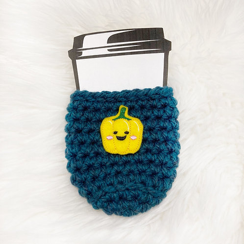 Pepper - Teal Cup Cozy