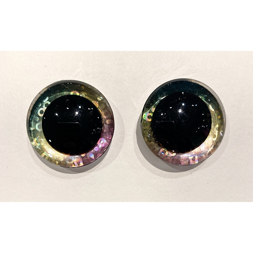 Sequin Rainbow Toy Eyes - 25mm