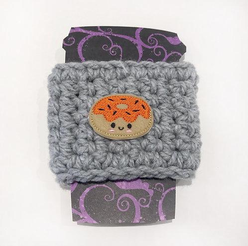 Halloween Doughnut - Grey Cup Cozy