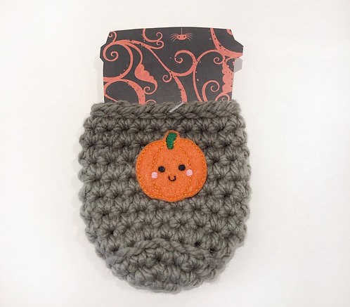 Pumpkin - Taupe Cup Cozy