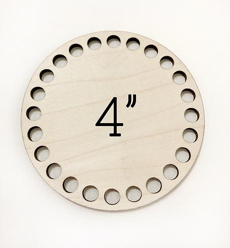 "4"" Round Wood Basket Bottom"