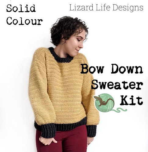 Bow Down Sweater Kit - SOLID COLOUR