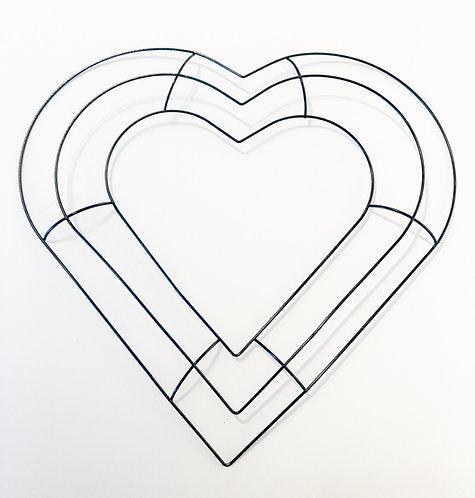 Heart - Metal Wreath Form