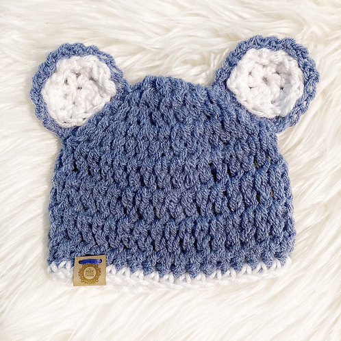Slate Blue - Preemie Teddy Bear Hat