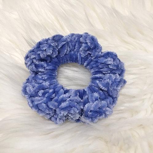 Rich Blue - Velvet Scrunchie
