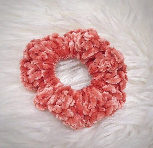 Terra Cotta Rose - Velvet Scrunchie