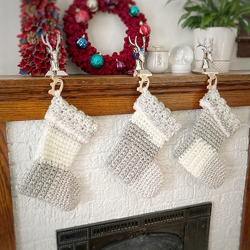 Grey & Cream - Kids Holiday Stocking