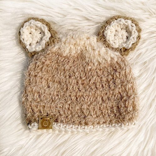 Browns - Newborn Fuzzy Teddy Bear Hat