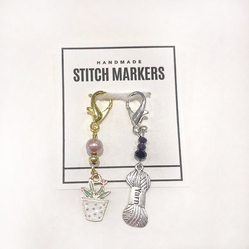 Stitch Markers - Planter & Yarn
