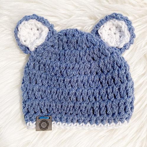 Slate Blue - Newborn Teddy Bear Hat