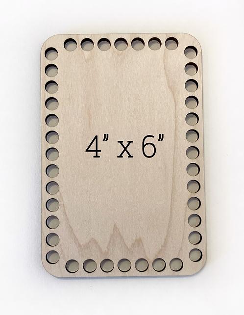 """4"""" x 6"""" Wood Basket Bottom"""