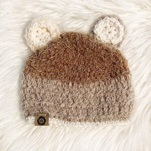 Browns - 3-6 Months Fuzzy Teddy Bear Hat
