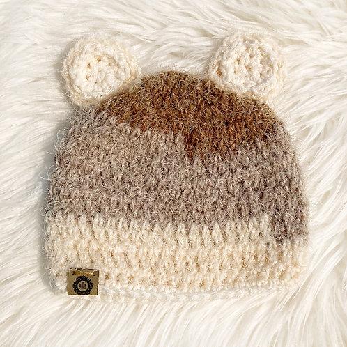Browns - 6-12 Months Fuzzy Teddy Bear Hat