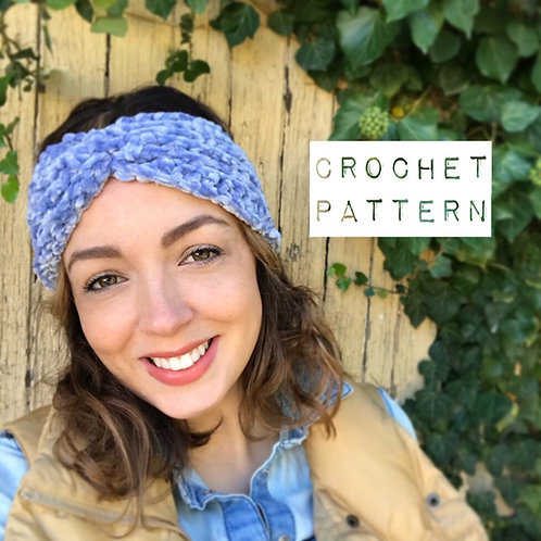 Sweet November Reversible Ear Warmer - Crochet Pattern