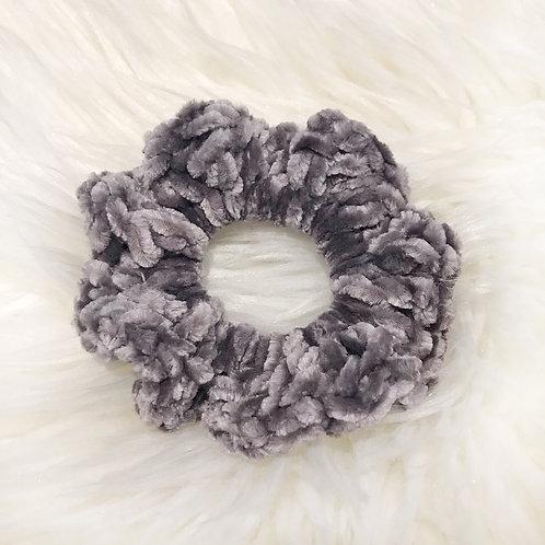 Vapour Grey - Velvet Scrunchie