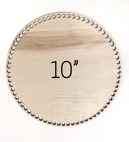 "10"" Round Wood Basket Bottom"