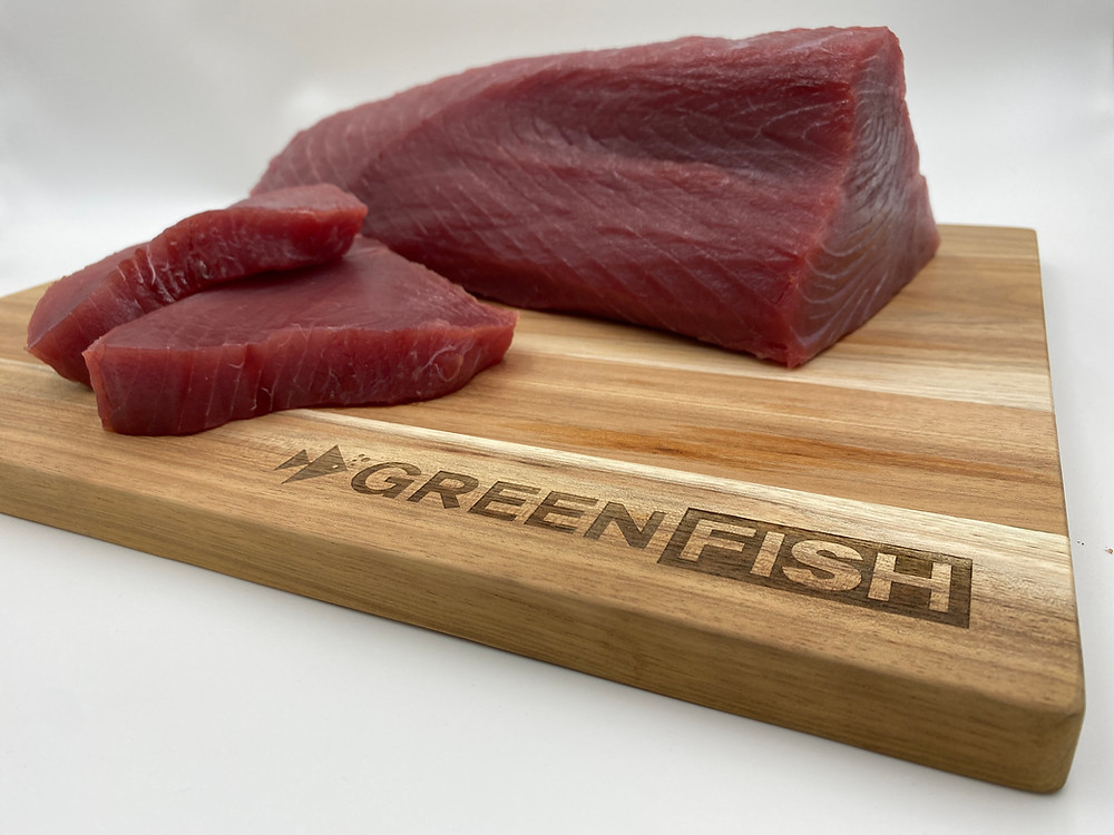 Greenfish yellowfin tuna steaks , perfect for the braai for fathersday meal