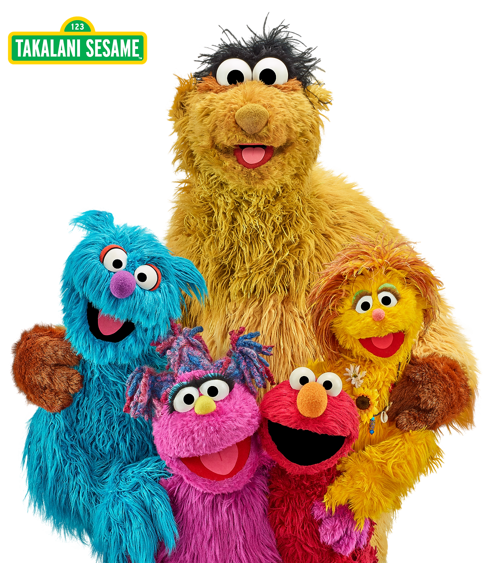 Takalani Sesame friends imagae of them all together