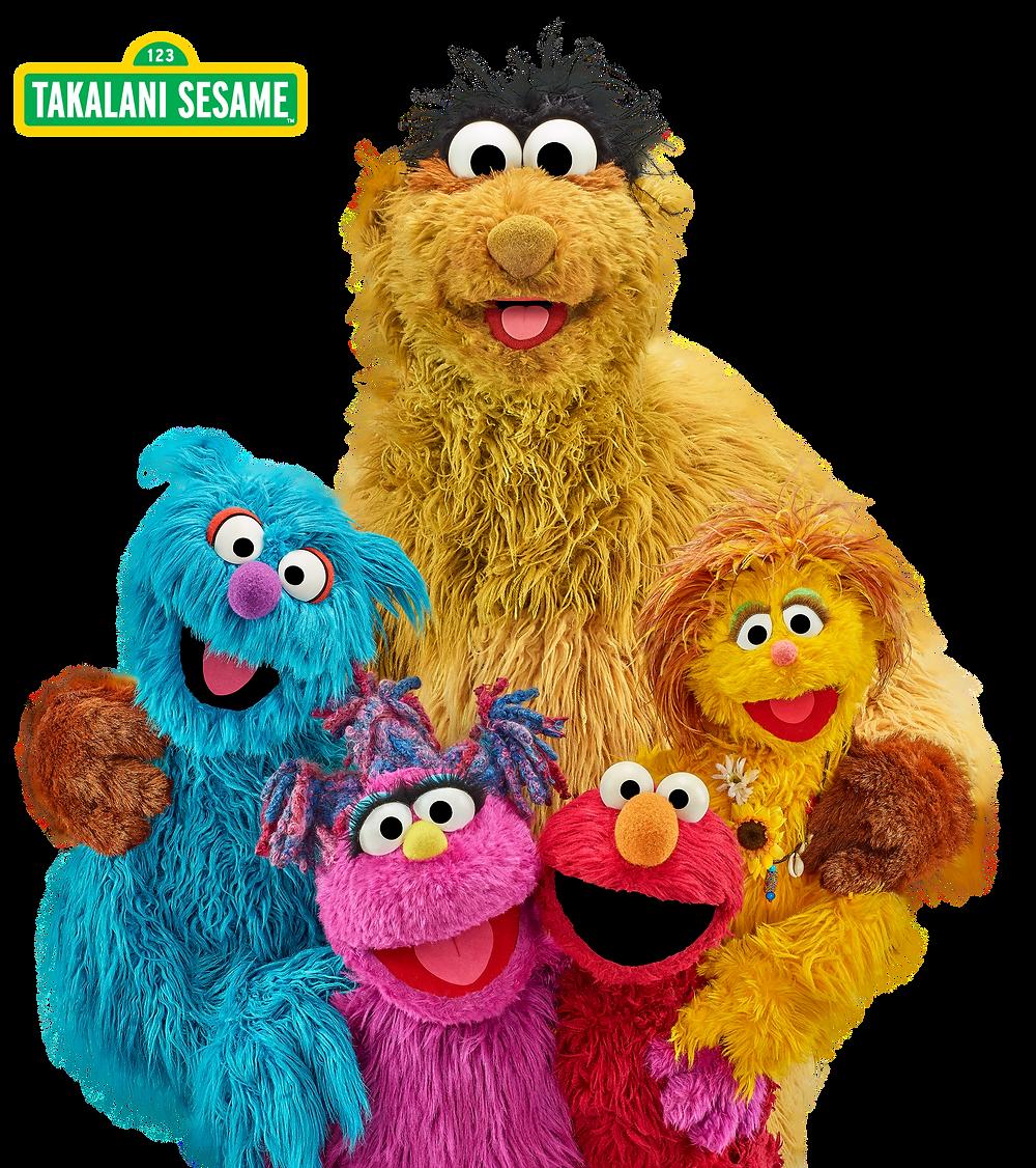 Takalani Sesame friends imagae of them all together