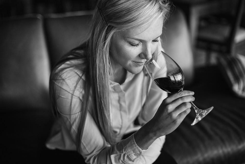 Karlin Nel, the Cellar Master at Vrede En Lust Wine estate in Franschoek South Africa.