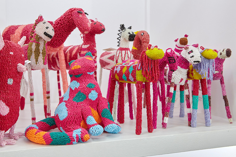 Monkeybiz a npo in South Africa has created a limited edition beaded animal army to raise funds for CANSA