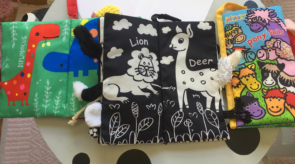Black and White sensory book for babies. Babies see in black & white untill they are about 4 months old. Sensory books are good for development