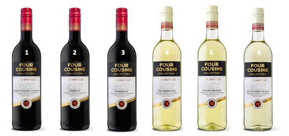 Four Cousins Collection single varietal wines on offer. Wines  of South Africa. Wines of Robertson. Red and white wine