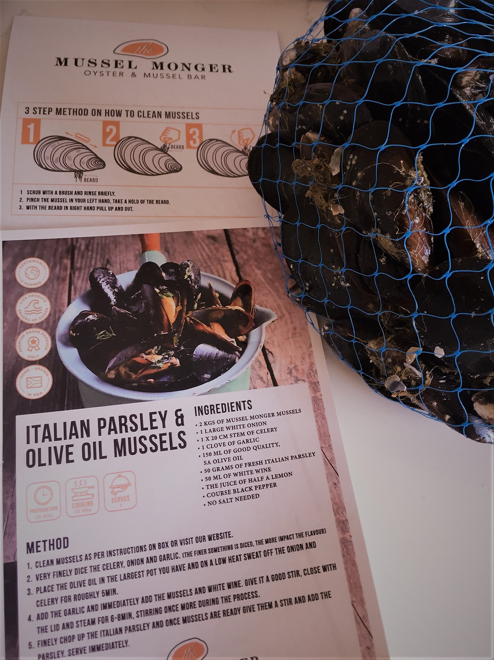 Mussels from the mussel Monger. How to clean mussels and a recipes