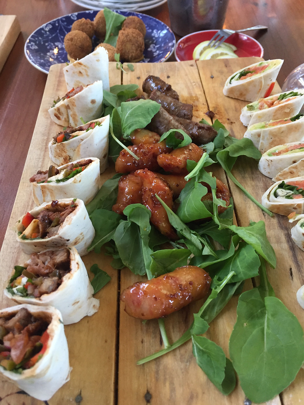 Platter of food on offer at Nuy on the hill. Nuy is a wine farm in south Africa