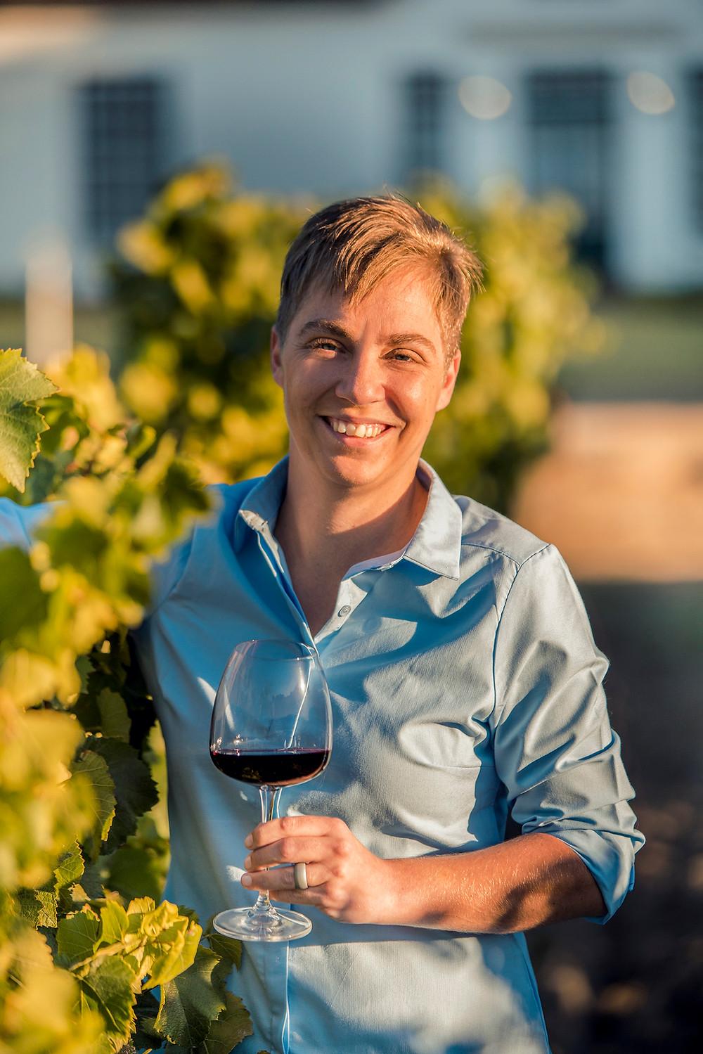 Nederburg wine maker Zinaschke Steyn.