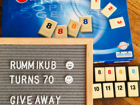 Rummikub Turns 70 !  Outwit your opponents    with strategy and sharp moves.