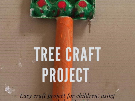 Easy Tree DIY Craft Project for children using Recycled products.