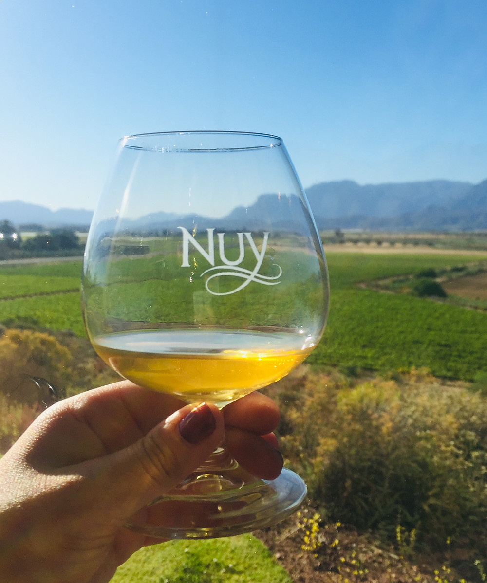 View of the valley from Nuy tasting room. Makes great brandy
