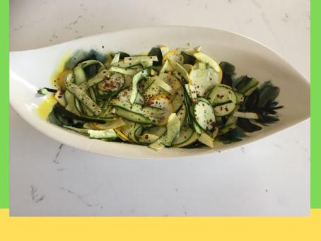 Recipe for Easy Baby Marrow and Patty Pan Salad.