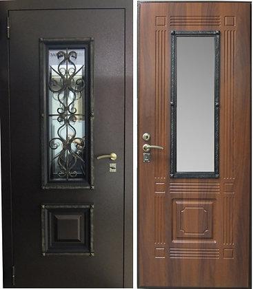 АЖУР со стеклом и ковкой Дверь входная