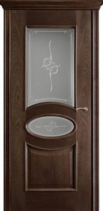 Межкомнатная дверь Элипс из натурального дерева