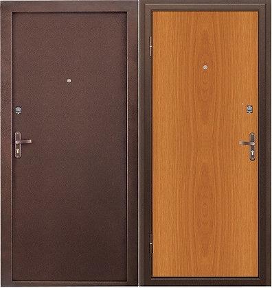 Дверь бюджетная из металла с панелью