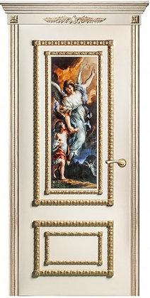 Межкомнатная дверь Прима Элитная со старенным зер
