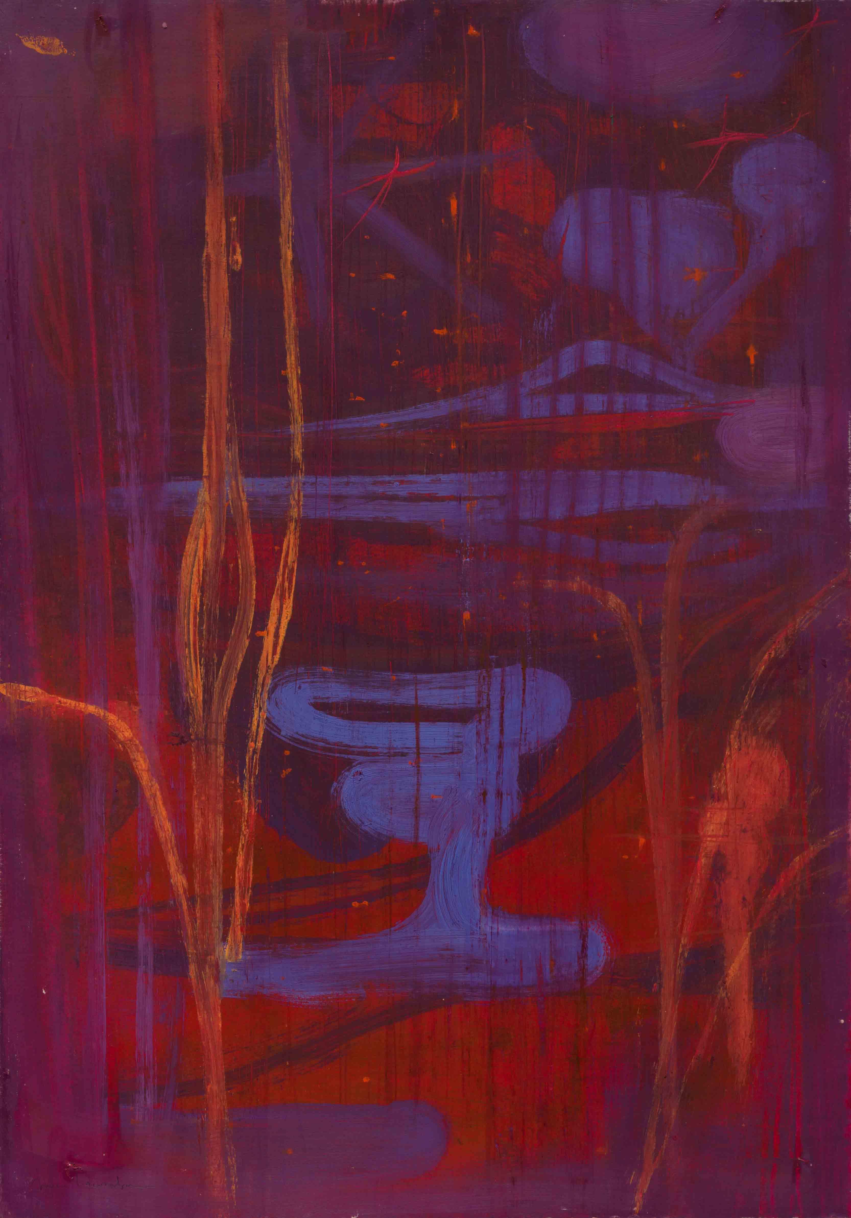 2011 Cerro y laguna en rojo, 2