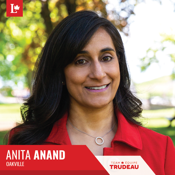 Anita Anand: An Exciting New Candidate for Oakville