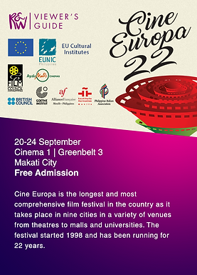 Cine Europa 22: A Viewer's Guide