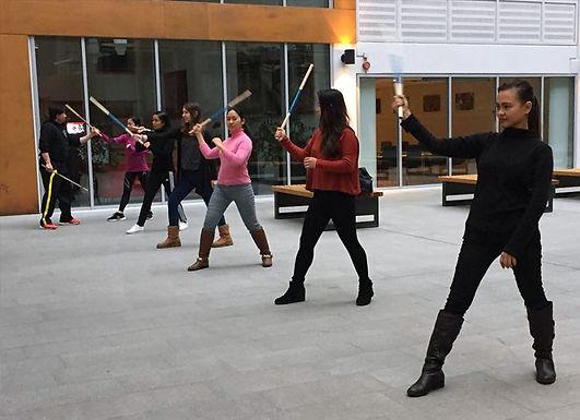 GM Huertas, Au pairs in Norway attend FMA self-defense training