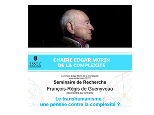 [ESSEC] Chaire Edgar Morin - FR de Guenyveau - séminaire de recherche