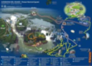 Mapa Parque Nacional Catartas del Iguazu