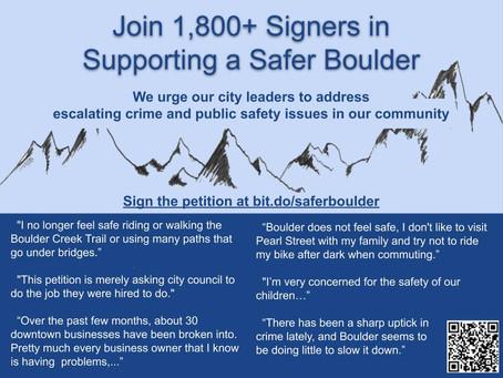 Safer Boulder Distributes Flyers