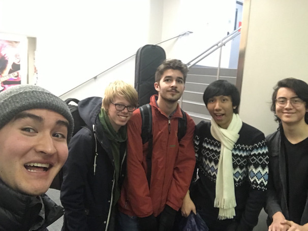 Post Jam with some cool folks at Berklee!