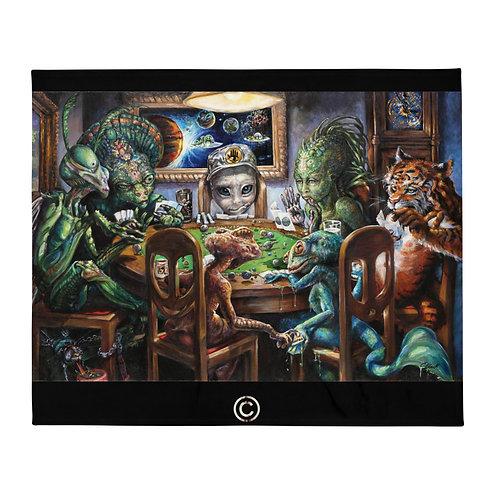 Poker for Planets- Alien tapestry/blanket