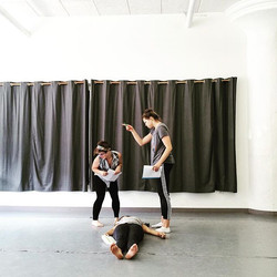 Actors #rehearse #scenes from _Through the Looking Glass_ in preparation for our final #fieldwork pr