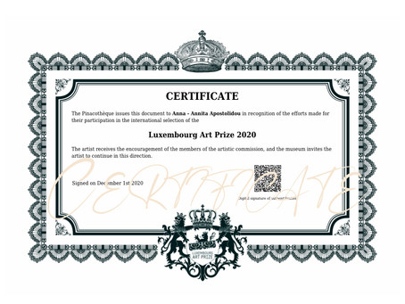 Luxembourg Art Prize participation