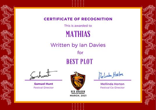Mathias // Red Dragon Creative Awards - Best Plot